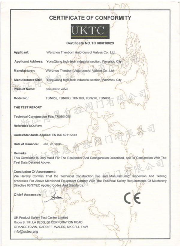 Pneumatic-actuator-CE-Certification