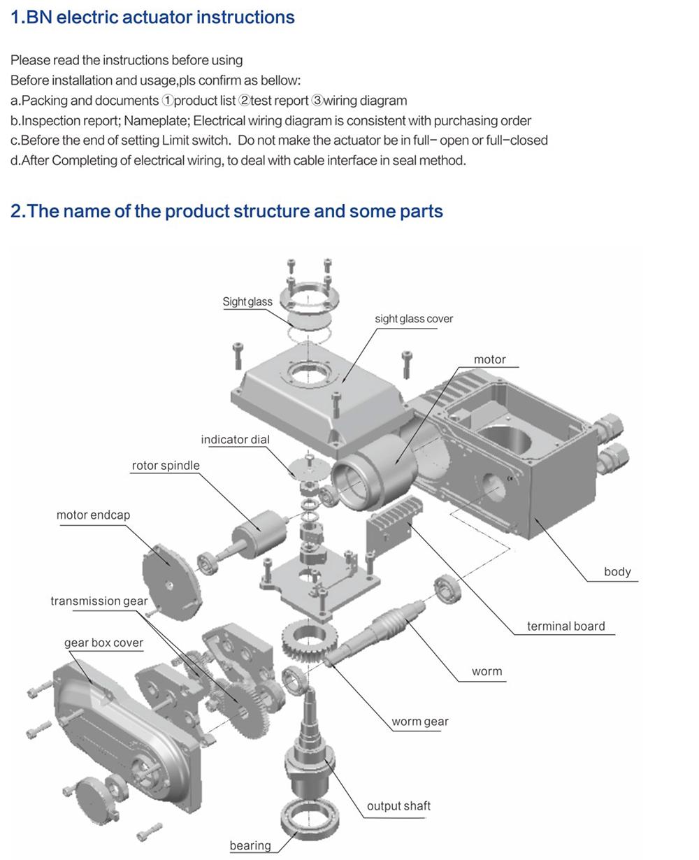 Bn Series Electric Actuator Theoborn Auto Control Valvescoltd Linear 220v Wiring Diagram Description